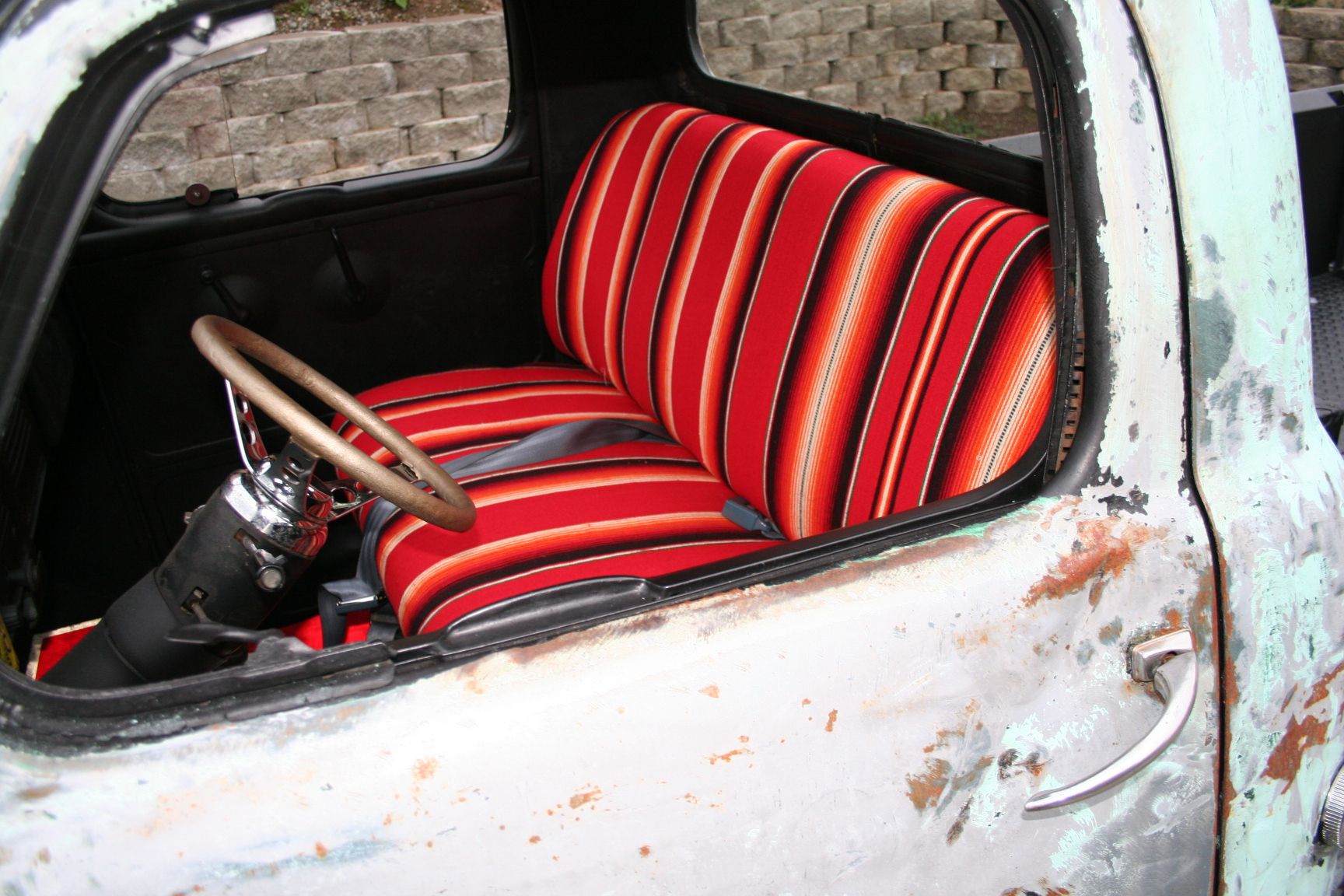 Tastefully done Mexican blanket seat covers. | Mexican pride ...