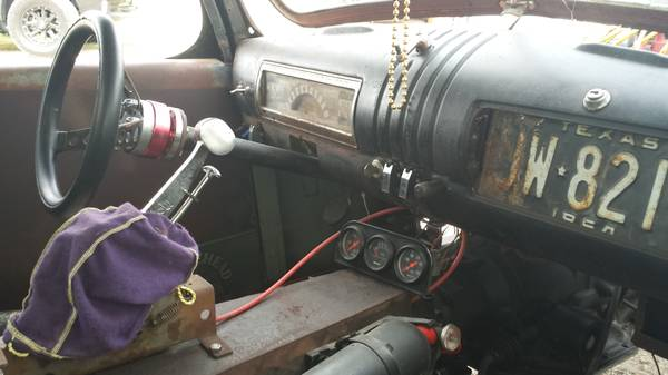 Nice Shifter Boot Rat Rod 46 Chevy Spring Tx